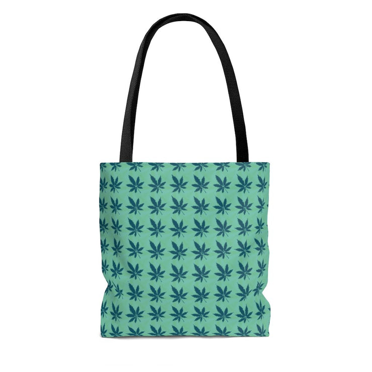 Green Leaves Tote Bag - Cannafitshop