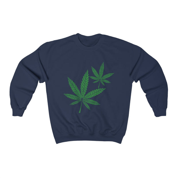 Hemp Leaf Unisex Heavy Blend™ Crewneck Sweatshirt - Cannafitshop