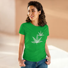 Load image into Gallery viewer, White Leaf Women's Heavy Cotton Tee - Cannafitshop