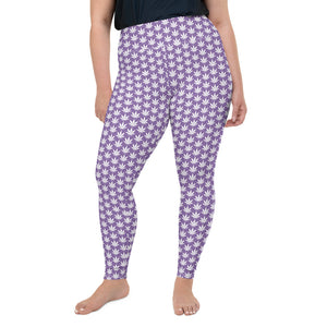 Light Purple Plus Size Leggings - Cannafitshop