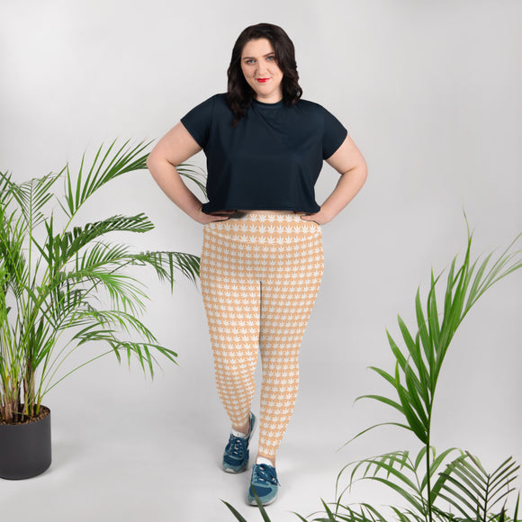 Nude Plus Size Leggings - Cannafitshop
