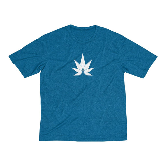 Big Leaf Men's Heather Dri-Fit Tee - Cannafitshop