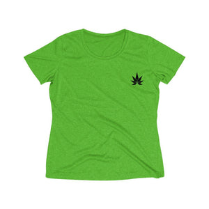 Women's Heather Wicking Tee - CANNAFITSHOP