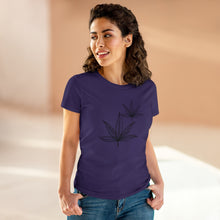 Load image into Gallery viewer, Black Leaf Women's Heavy Cotton Tee - Cannafitshop