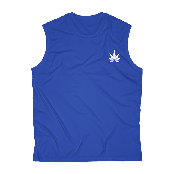 Leaf Men's Sleeveless Performance Tee - Cannafitshop