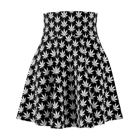 Black And White Women's Skater Skirt - Cannafitshop