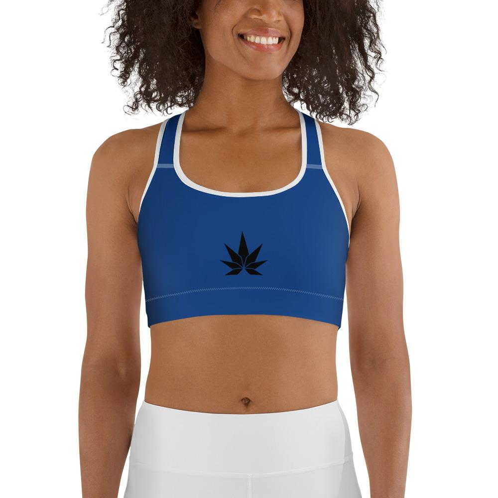 Blue Sports bra - Cannafitshop