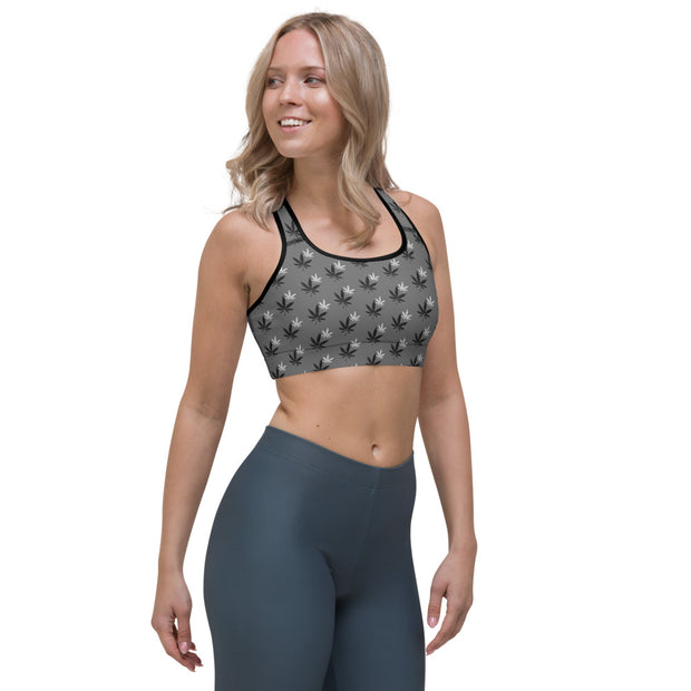 Gray Sports Bra - Cannafitshop