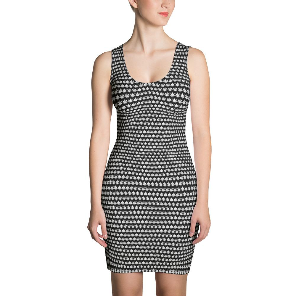 Black And White Cut & Sew Dress - Cannafitshop
