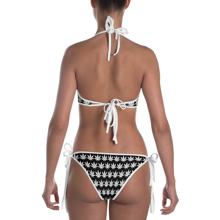 White And Black Bikini - Cannafitshop