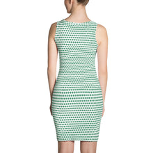 Load image into Gallery viewer, White And Green Cut & Sew Dress - Cannafitshop
