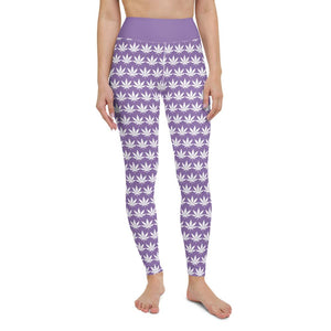 Light Purple Yoga Leggings - Cannafitshop