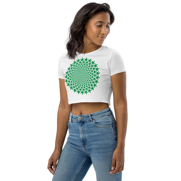 Circle Leaf Organic Crop Top - Cannafitshop