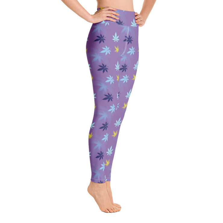 Purple Yoga Leggings - Cannafitshop