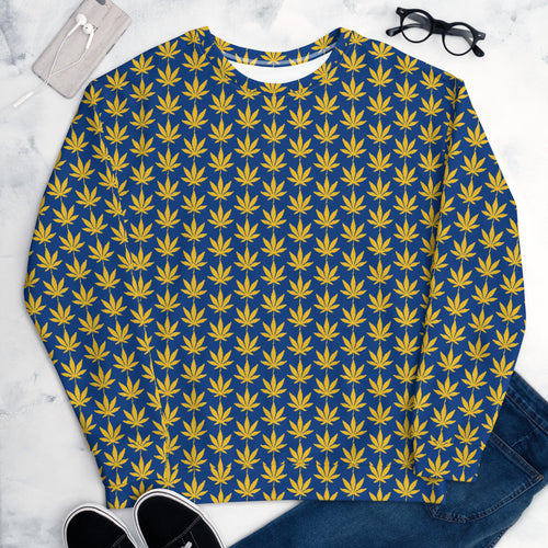 Navy Blue Unisex Sweatshirt - Cannafitshop