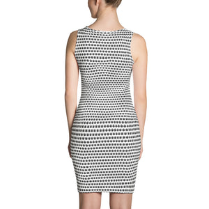 White And Black Cut & Sew Dress - Cannafitshop