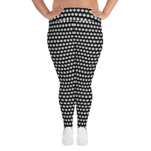 Load image into Gallery viewer, White Leaf All-Over Print Plus Size Leggings - Cannafitshop