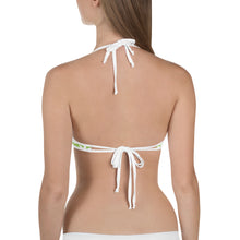 Load image into Gallery viewer, Green White Leaf Bikini Top - cannafitshop