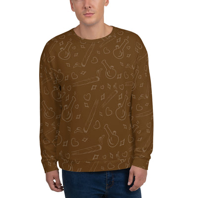 Brown Unisex Sweatshirt - Cannafitshop