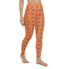 Load image into Gallery viewer, Orange Yoga Leggings - Cannafitshop