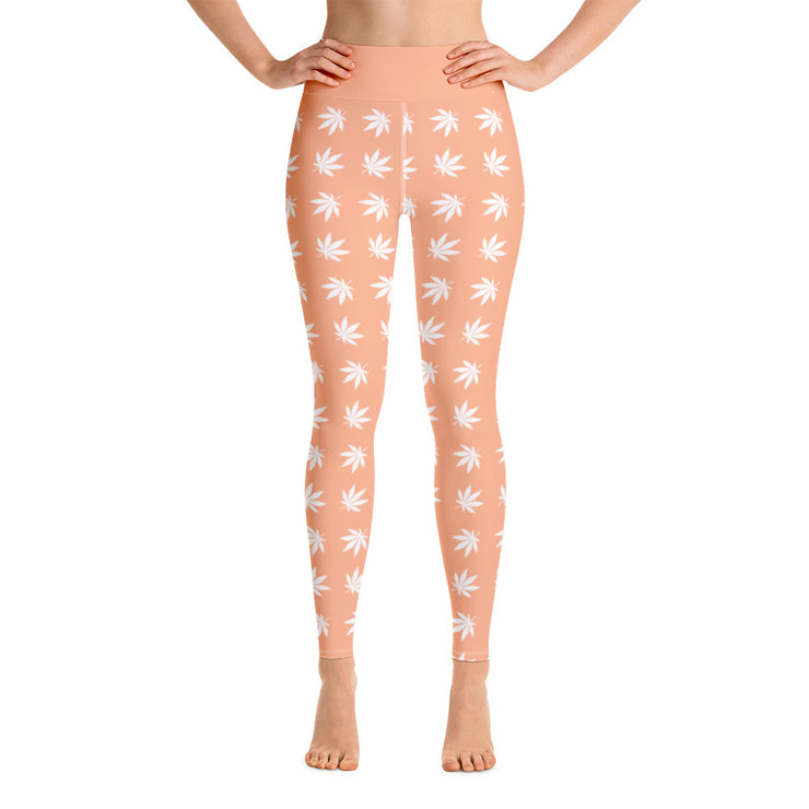 Peach Yoga Leggings - Cannafitshop