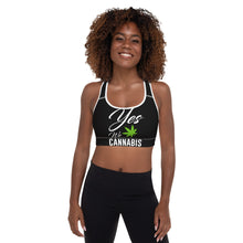 Load image into Gallery viewer, Express Yourself Padded Sports Bra - cannafitshop