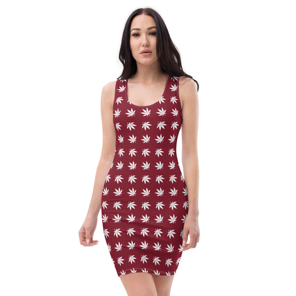 Red And White Cut & Sew Dress - Cannafitshop