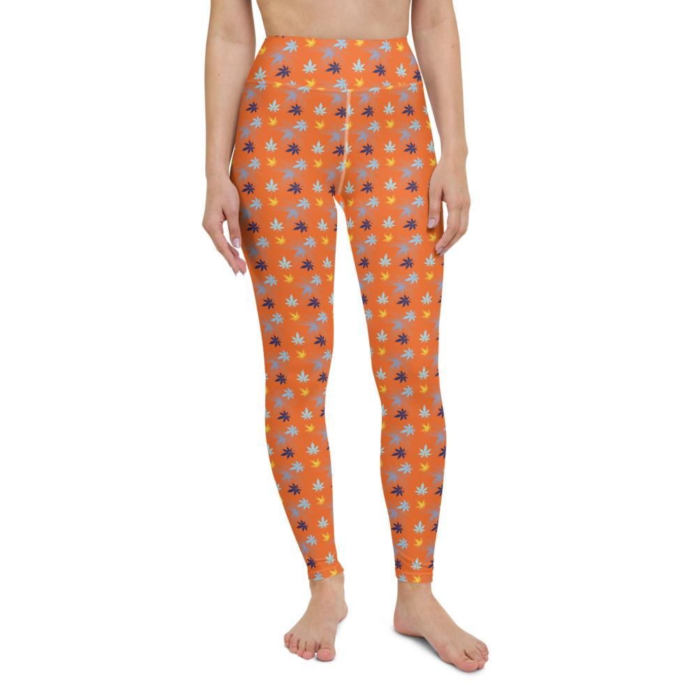 Orange Yoga Leggings - Cannafitshop