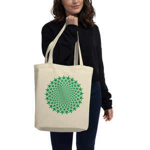 Circle Leaf Eco Tote Bag - Cannafitshop