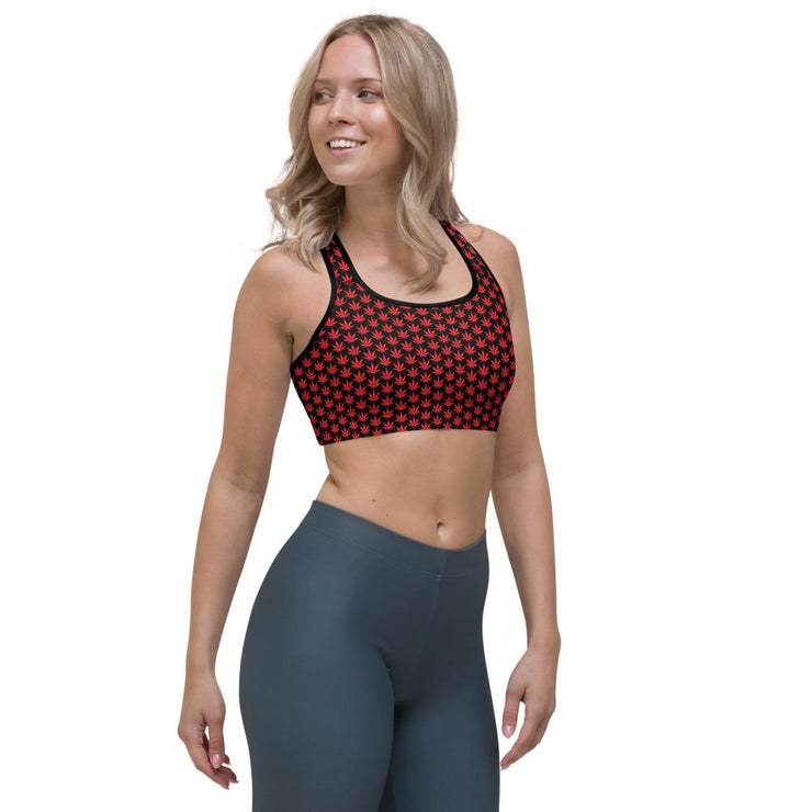 Red Leaf Sports bra - Cannafitshop