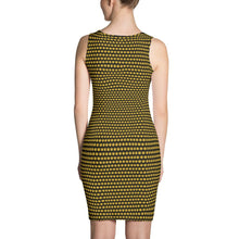 Load image into Gallery viewer, Black And Yellow Cut & Sew Dress - Cannafitshop