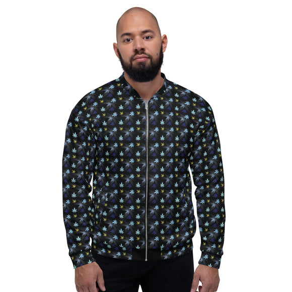Chasing The Blues Unisex Bomber Jacket - Cannafitshop