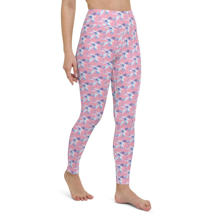 Pink Yoga Leggings - Cannafitshop
