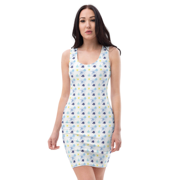 White Cut & Sew Dress - Cannafitshop