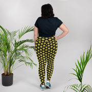 Yellow Plus Size Leggings - Cannafitshop