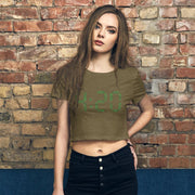420 Women's Crop Tee - Cannafitshop