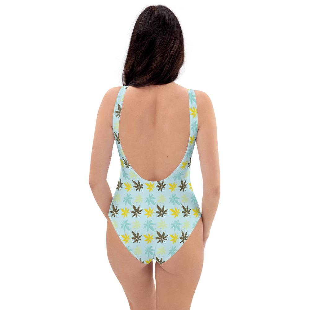 Falling Leaves One-Piece Swimsuit - Cannafitshop