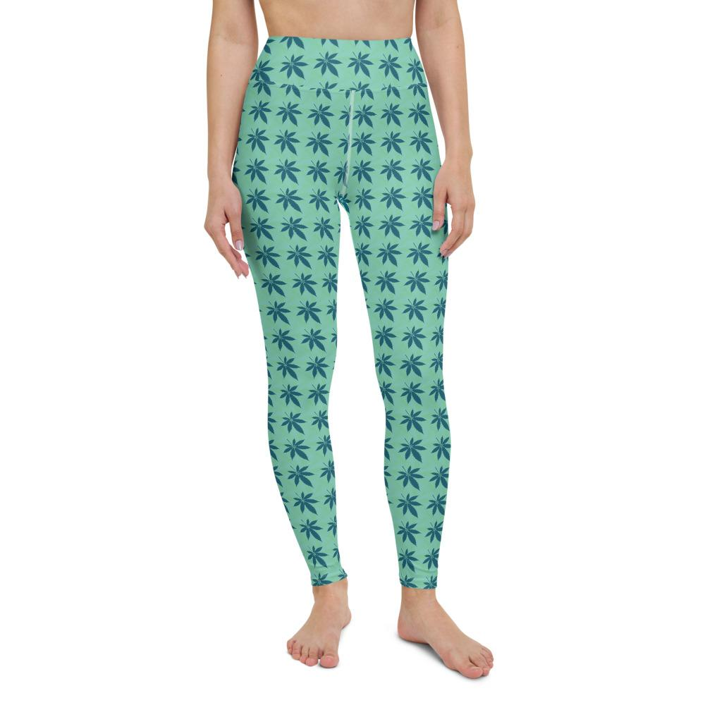 Green Land Yoga Leggings - Cannafitshop