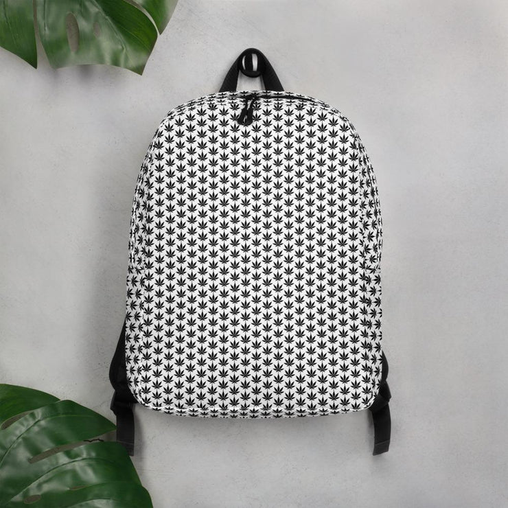 Black And White Minimalist Backpack - Cannafitshop