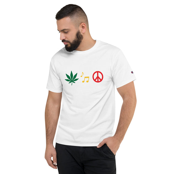 Peace Men's Champion T-Shirt - Cannafitshop