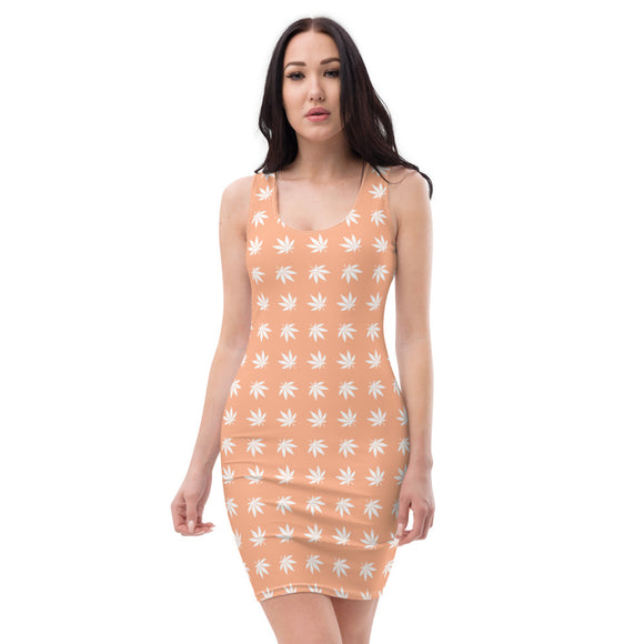 Peach Cut & Sew Dress - Cannafitshop