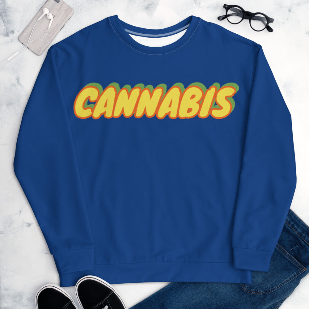 Retro High Unisex Sweatshirt - Cannafitshop