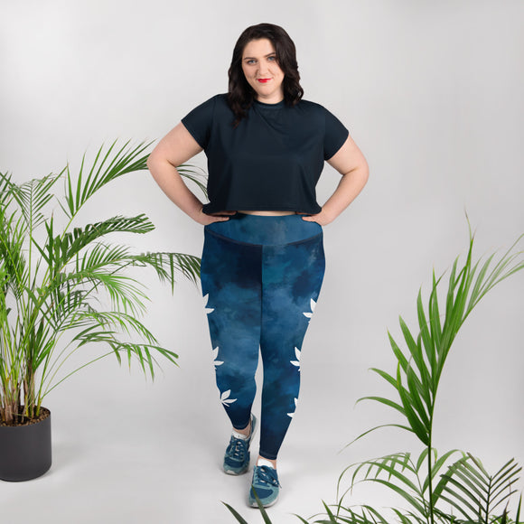 Day Dream All-Over Print Plus Size Leggings - Cannafitshop
