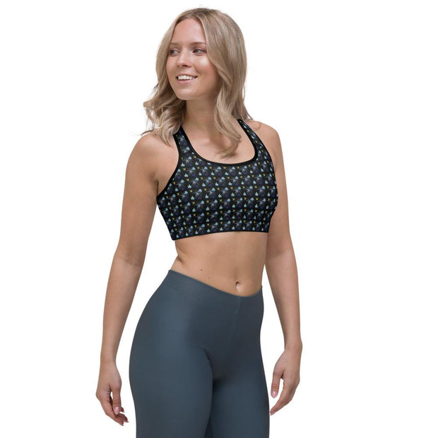 Chasing The Blues Sports bra - Cannafitshop