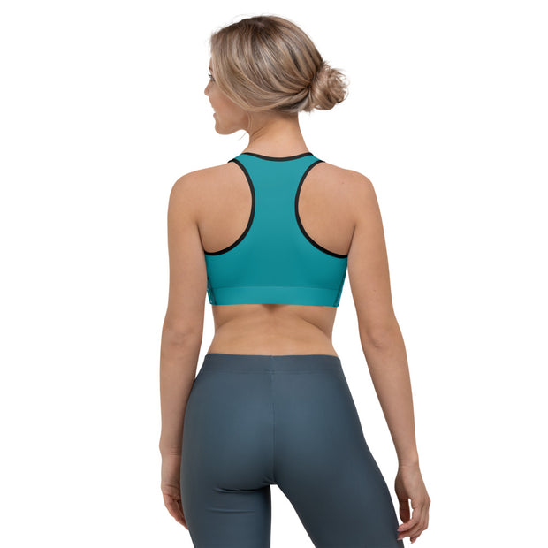 Teal Sports bra - Cannafitshop