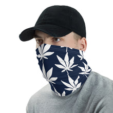 Load image into Gallery viewer, Blue and White Neck Gaiter - cannafitshop