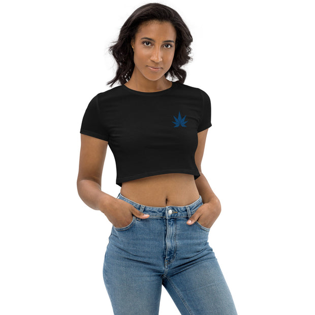 Blue Leaf Organic Crop Top - Cannafitshop