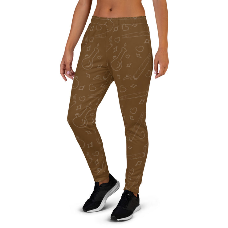 Brown Women's Joggers - Cannafitshop