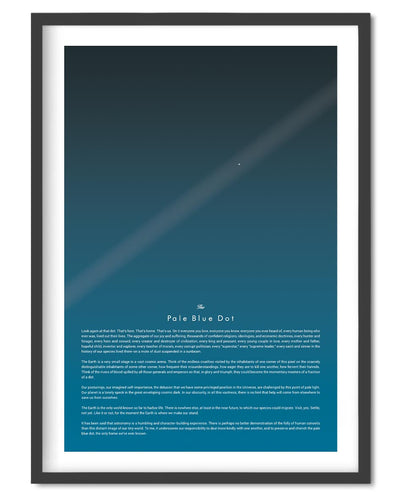Pale Blue Dot Full Quote Poster - Wolf and Rocket