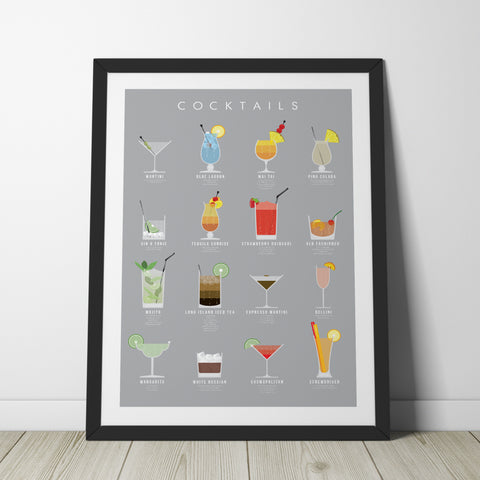 Cocktail Poster Print - Wolf and Rocket